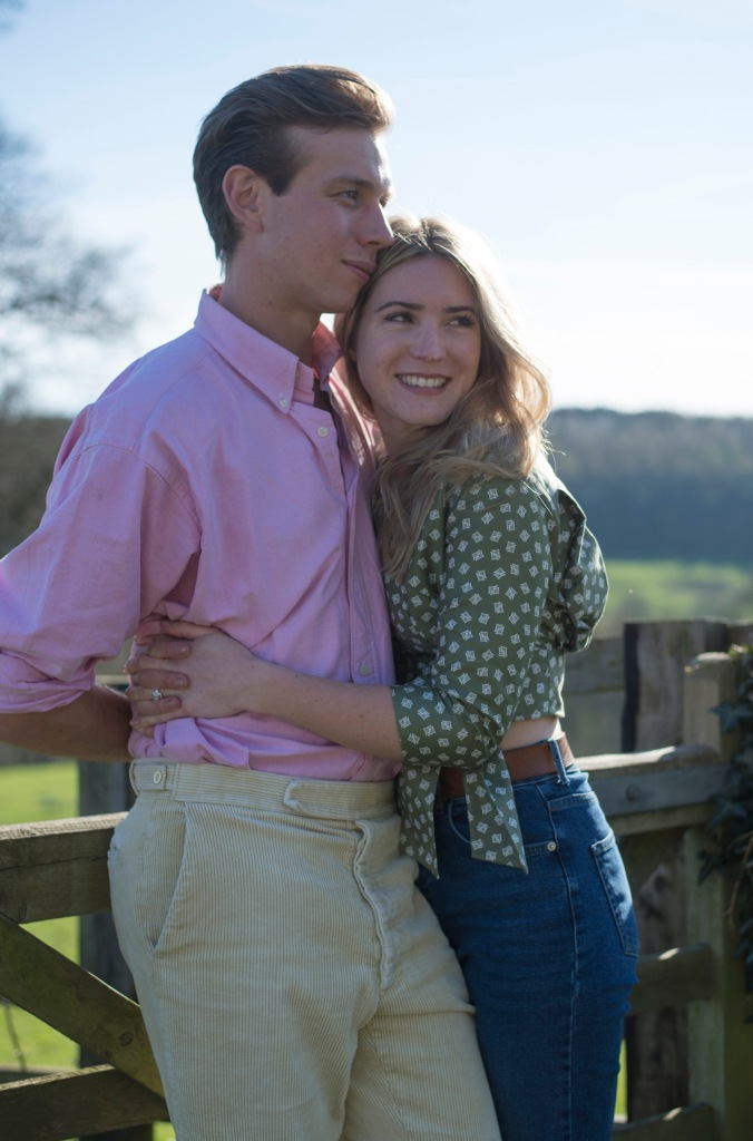 Kirkham Abbey York Engagement Photo Shoot Countryside_01