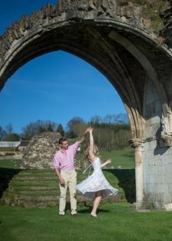 Kirkham Abbey York Engagement Photo Shoot Countryside_06