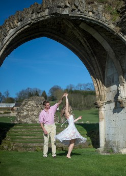 Kirkham Abbey York Engagement Photo Shoot Countryside_06