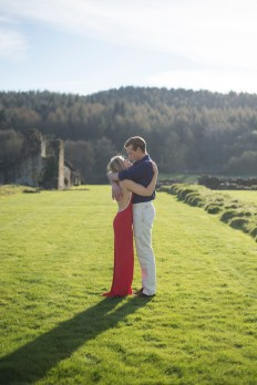 Kirkham Abbey York Engagement Photo Shoot Countryside_11