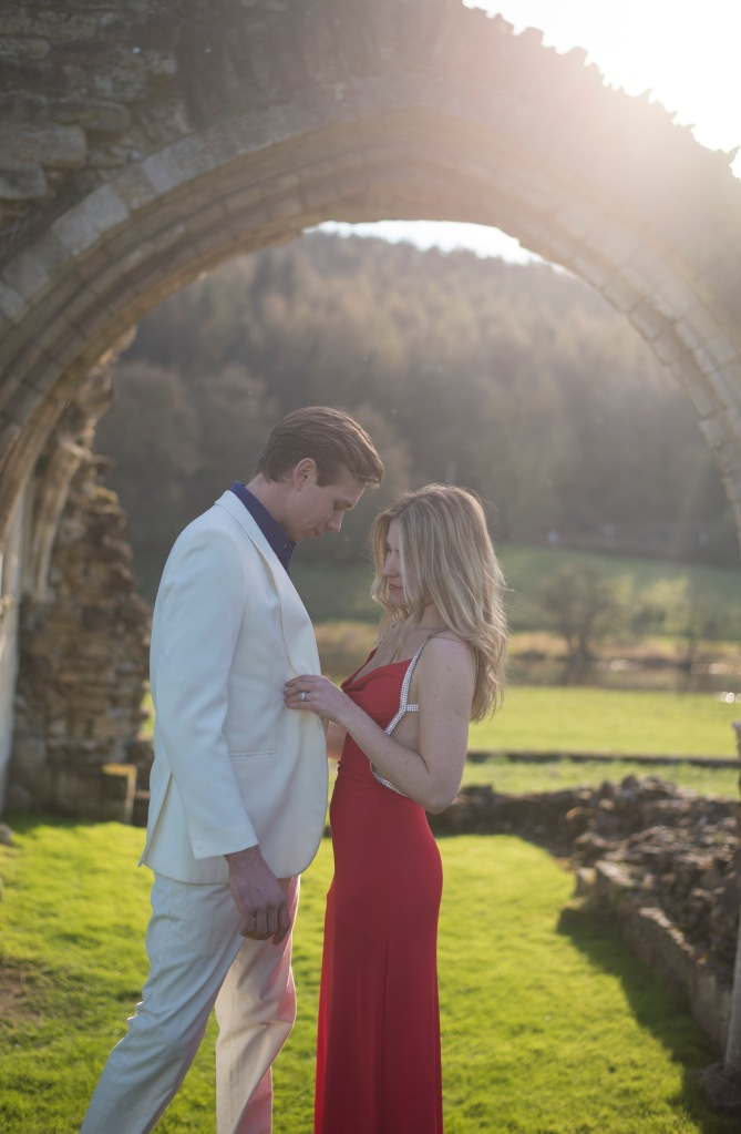 Kirkham Abbey York Engagement Photo Shoot Countryside_13